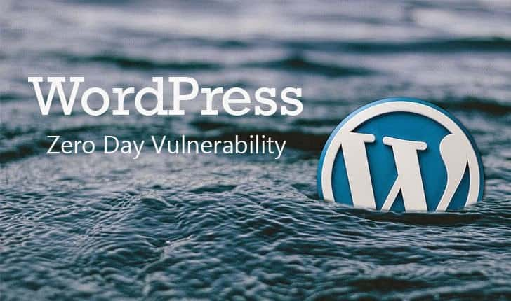 wordpress zeroday vulnerability